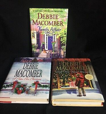 Lot of 3 Hardcover Books Debbie Macomber New York Times Best Selling Author