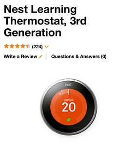 Display. Like new. Nest 3rd generation learning thermostat