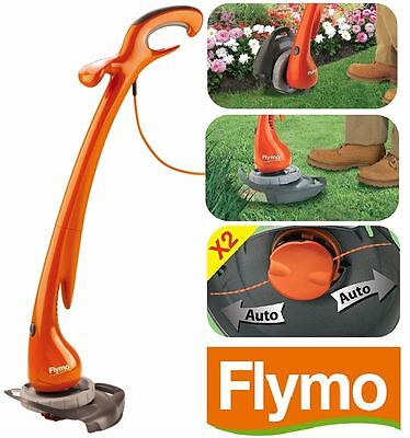Flymo Strimmer Grass Trimmer Contour XT Electric Corded & Lawn Edger Plant Guard