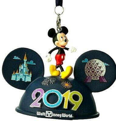 Disney Parks 2019 Disney World MICKEY MOUSE LIGHT-UP EAR HAT Christmas Ornament ()