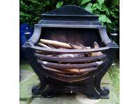 Victorian cast iron fire basket