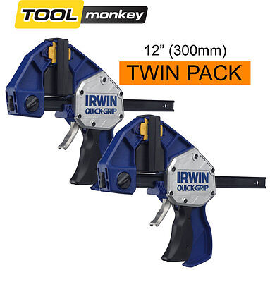 Irwin 10507724 Quick-Grip Xtreme Pressure Clamps 300mm (12in) 10505943 Twin Pack
