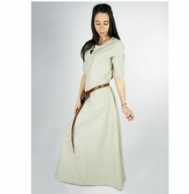 Larp Gewandung Unterkleid geschlitzt  Kleid Maid hemp (Kurze Mittelalter-kleid)