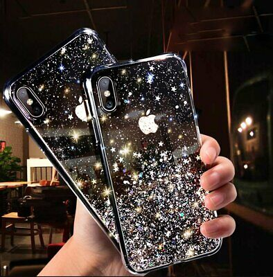 Slim Bling Glitter Silicone Phone Case Soft TPU Cover For iPhone 7 Plus 8 6s XR