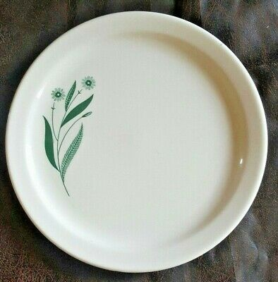 USA Homer Laughlin Best China HLC3930 Green Flowers Ivory Salad Dessert Plate
