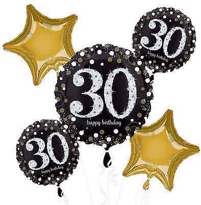 Sparkling Celebration 30th Birthday Balloon Bouquet Party Decorations Supplies - 30th Birthday Supplies