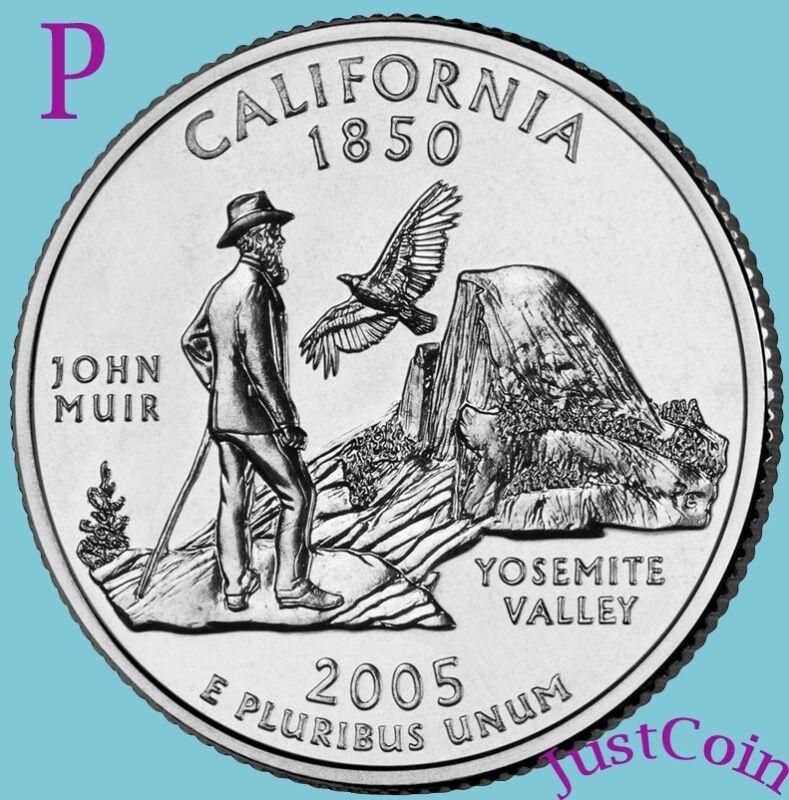 2005-P CALIFORNIA CA STATE QUARTER UNCIRCULATED FROM U.S. MINT * STATE QUARTERS