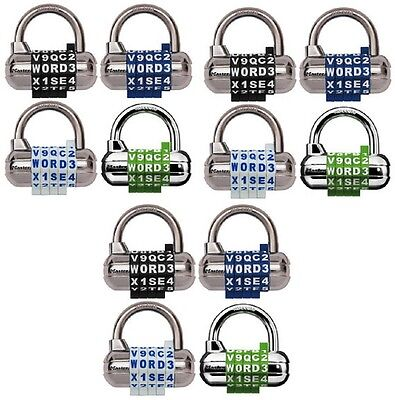 Master Lock 1534d 2-12 Set Your Own Word Combination Locks - 12 Pack