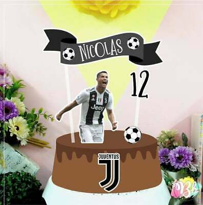 Soccer Themed Party (Personalized Soccer Juventus Cristiano Ronaldo Theme Cake Topper Party)