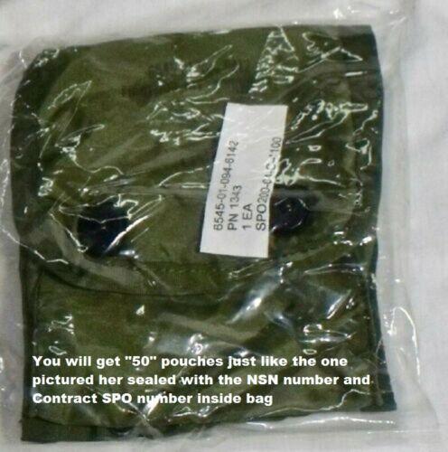 "Wholesale Lot 50 First Aid Pouch  ""USGI"" NSN:6545 01 094 8412 1.50 each shipped"