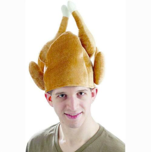 3 Pack Thanksgiving Turkey Hats Funny Plush Roasted Turkey Hat for Adults Gifts