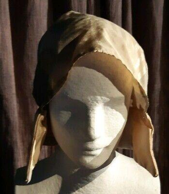Mittelalterliche Haube ♤ Kopfbedeckung Magd ♤ Glänzend ♤ - Mittelalterliche Haube