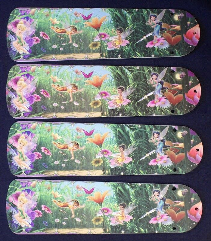 """New DISNEY TINKERBELL & FAIRIES 42"""" Ceiling Fan BLADES ONLY"""