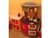Little Tikes Double Up Kitchen and Laundry with accessories