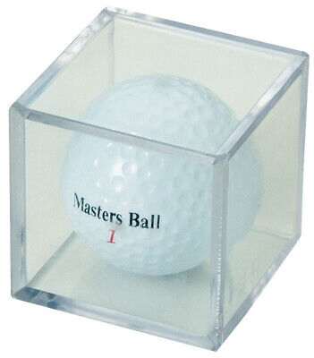 (144) GOLF BALL CLEAR SQUARE CUBE STACKABLE DISPLAY CASE STAND STORAGE -