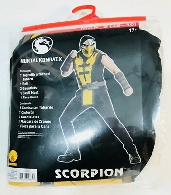 Mortal Kombat X Scorpion Costume Adult Mens Small (28-30) Cosplay Halloween New ()