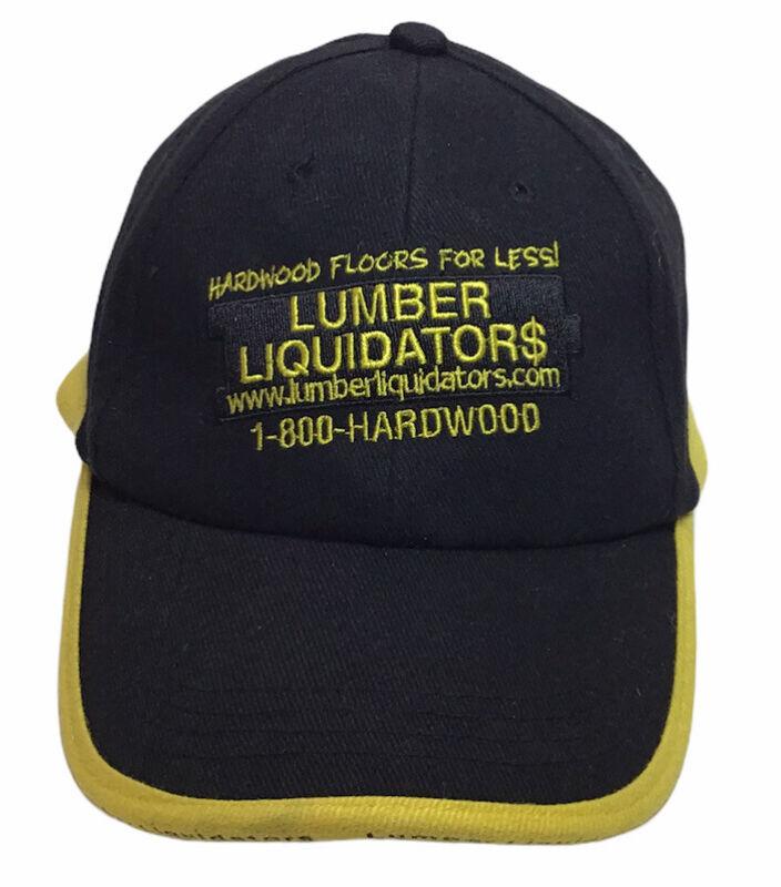 Lumber Liquidators Hat Black Adjustable Strap OSFA Hardwood Ad Company Promo