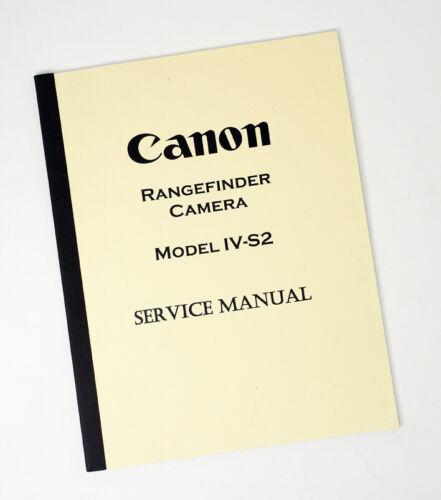 Canon Rangefinder Camera IV-S2 Service Manual Dechert