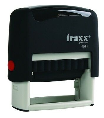 (Traxx 9011 (Ideal 50 size) Custom 3 Line Return Address Self Inking Rubber Stamp)