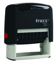 Traxx 9011 (Ideal 50 size) Custom 3 Line Return Address Self Inking Rubber Stamp