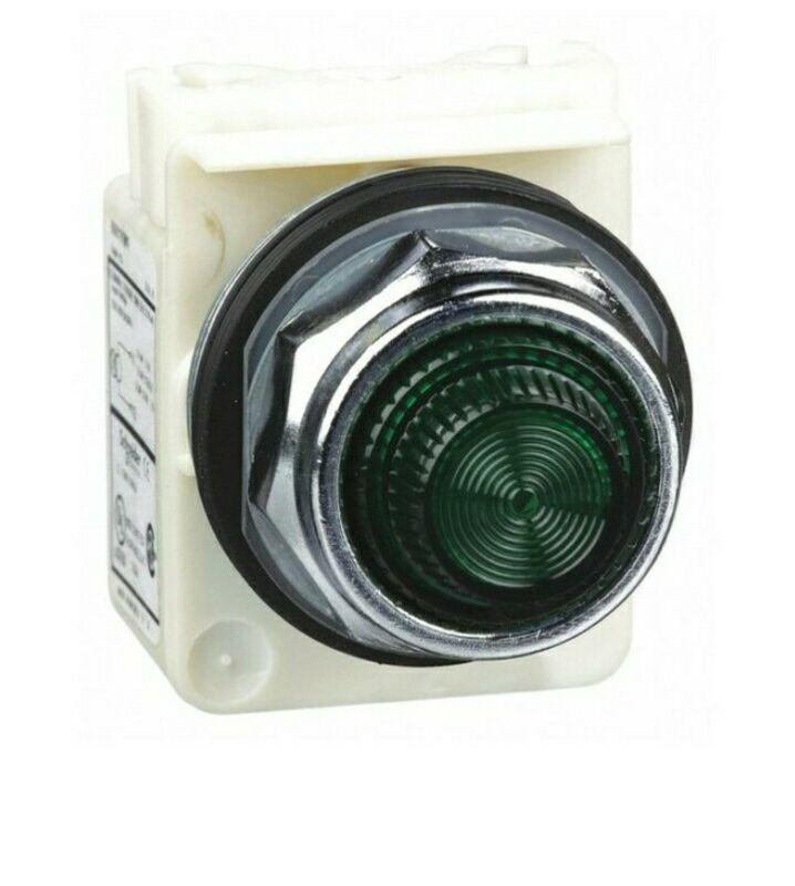 30mm Push Button, Type K, pilot light, transformer, 120 VAC, green fresnel cap