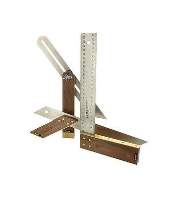 Hedue Tischler Set A031 rostfreier Edelstahl Schmiege Gehrmaß, Winkel 300 mm