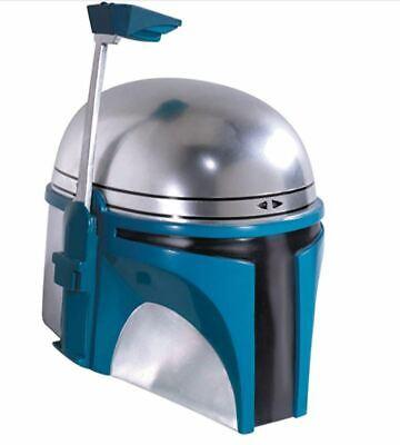 Star Wars Jango Fett Costume (Jango Fett Full Helmet Adult Deluxe Star Wars Cosplay Mask Bounty Hunter)