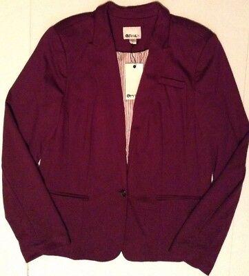 Stylus Womens Dress Blazer Jacket Lined Plum Purple Size XXLT 2XLT Ultra Tall