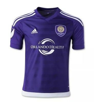 Orlando City SC adidas Authentic Home Soccer Jersey 2015 Purple Men's Large image