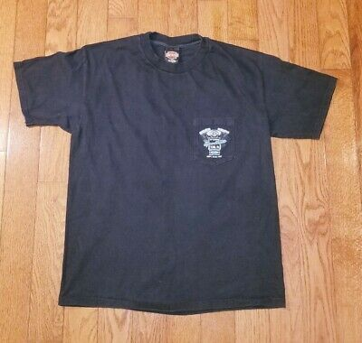 HARLEY DAVIDSON Men's Large Black Tee Shirt 15th Annual Open House YORK PA.