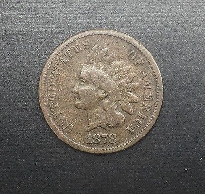 1878  INDIAN  HEAD CENT LOWER GRADE EXAMPLE