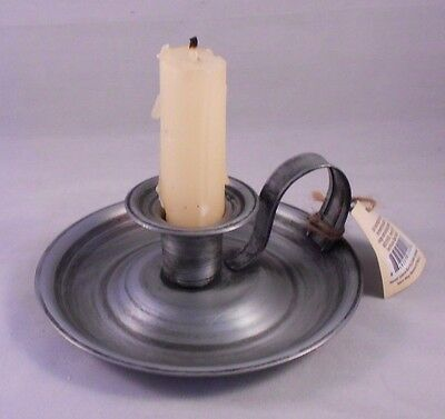 Farmhouse Taper Holder, Metal Vintage-Style Taper Candle Holder with Handle