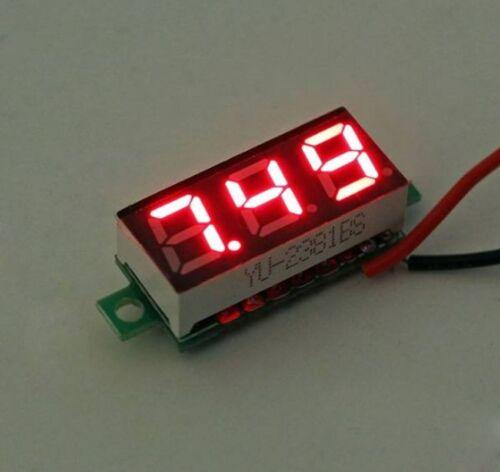 Red Portable Mini LED Digital Voltmeter Voltage Tester Meter 2.5V-30V 0.28 inch