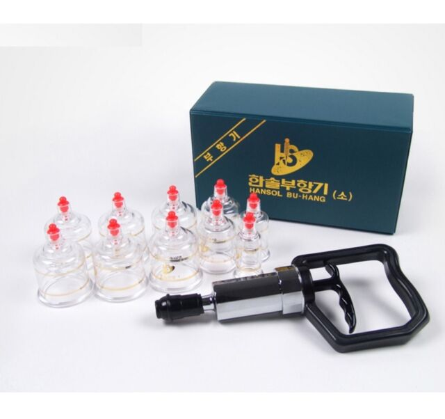 Hansol New Original 10PCS Cups Massage Professional Cupping Vacuum Therapy SET