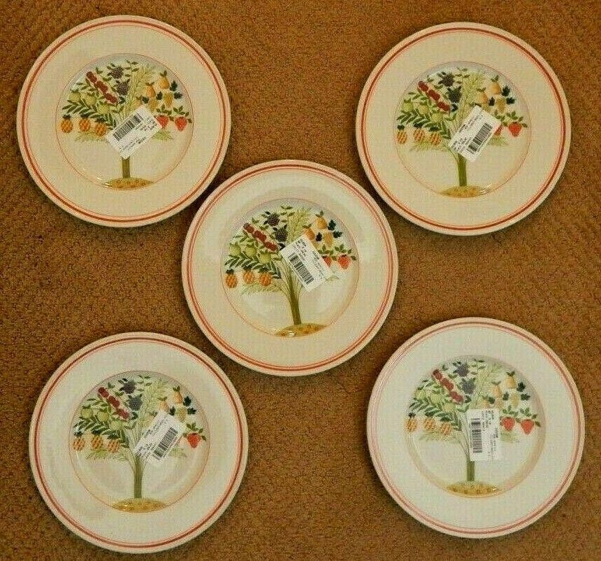 NEW Set Of 5 Villeroy Boch Bon Appetit Salad Plates, 8 1/2  - $54.95