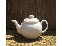 Large white teapot