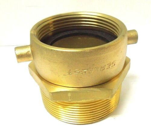 "2-1/2"" Female NST X 3"" Male NPT Pin Lug Brass Swivel Hydrant Adapter <1921580"