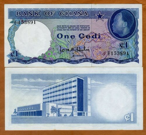 Ghana, 1 Cedi, ND (1965), P-5, aUNC > First Independent Issue, over 50 years