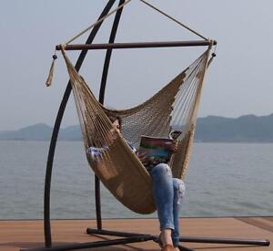 HERCULES STYLISH CARIBBEAN STRING HAMMOCK SWING WITH FRAME -INDOOR OR OUTDOOR