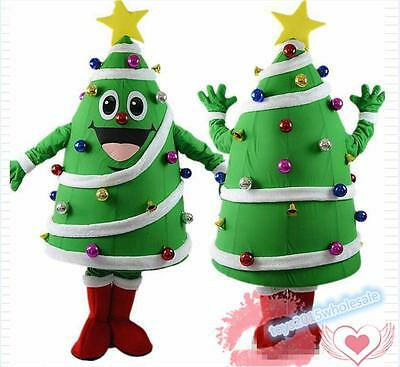Christmas Tree Mascot Costume Festival Party Cosplay Dress Cartoon Adult (Party Tree Costumes)