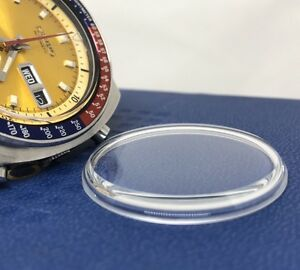 New Glass Mineral crystal for Seiko 6139 6002 6001 6000 6005  Yellow Pepsi Pogu