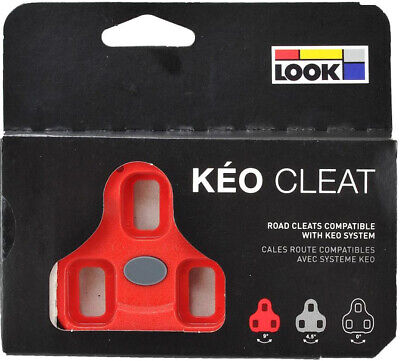 7° Floating Positz Look Keo Cleats ARC-10 Red for Road Bike Cycling Pedal