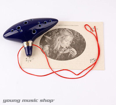 LEGEND OF ZELDA OCARINA OF TIME 12 HOLE OCARINA WITH SONGBOOK TRIFORCE LINK OoT