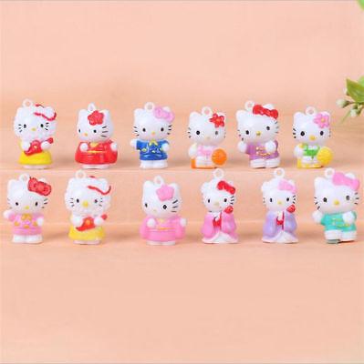 Hello Kitty - 12pcs Hello Kitty Anime Mini Figures Cute Figurine Display Kids Toy Gift