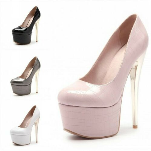 14cm Super High Heel Women Leather Fashion Sneakers Platform Wedge Pumps 0609