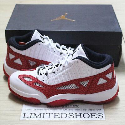 NIKE AIR JORDAN 11 XI RETRO IE WHITE GYM RED BLACK 919712-101 US 8.5 SZ chicago