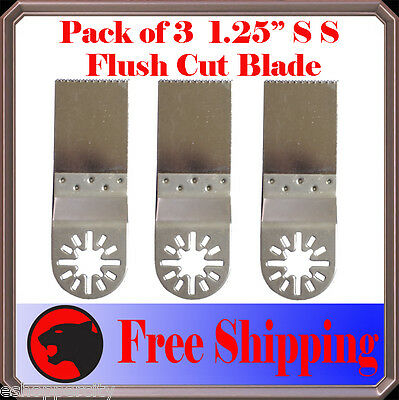 3 Pcs Oscillating Multi Tool Saw Blade For Fein Multimaster Bosch Ridgid Dremel