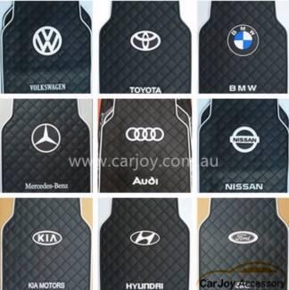 Luxury Latex Rubber Car Floor Mats with Logo Print 11 car Logo Bradbury Campbelltown Area Preview