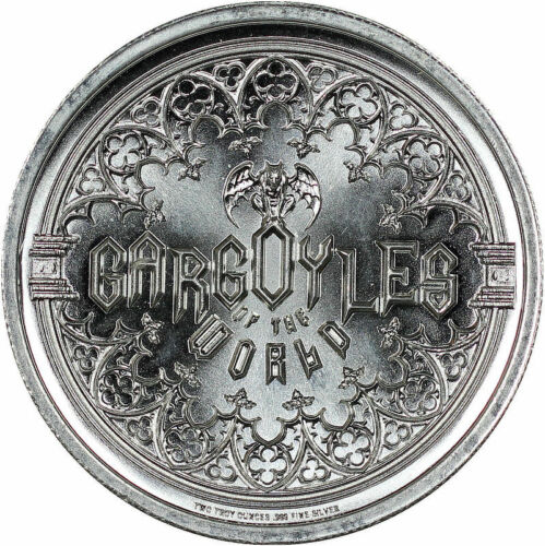2020 Intaglio Mint Gargoyle Eastern State Penitentiary 2 Oz .999 Silver Round - $92.00