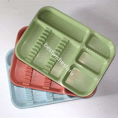 Dental Separate Divided Tray Plastic Autoclavable 135c 10 Drilled Hole 5 Color